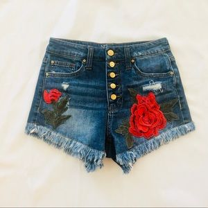 ADORABLE - High Rise embroidered Shorts